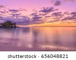 sunset at pereybere bay  a... | Shutterstock . vector #656048821