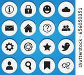 set of 16 editable  icons.... | Shutterstock .eps vector #656050351