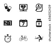 set of 9 editable mixed icons....