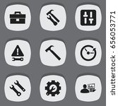 set of 9 editable toolkit icons....