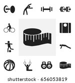 set of 12 editable active icons....