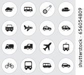 set of 16 editable... | Shutterstock .eps vector #656054809