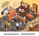 fashion studio composition with ... | Shutterstock .eps vector #656055025