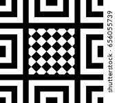 seamless tile with black white... | Shutterstock .eps vector #656055739