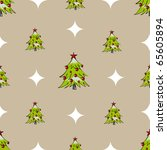 Seamless christmas tree pattern - stock vector