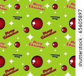 Seamless Christmas themed  pattern with retro vintage inspired design - stock vector