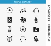 set of 12 editable audio icons. ...
