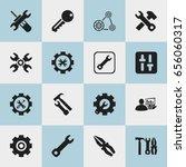 set of 16 editable mechanic...
