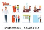 business lady office exercise.... | Shutterstock .eps vector #656061415