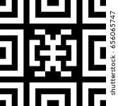 Seamless Tile With Black White...
