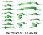 collection of green ornamental... | Shutterstock .eps vector #6560710
