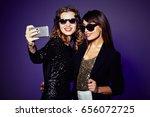 attractive it girls in trendy... | Shutterstock . vector #656072725