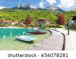 beautiful marina in talloires... | Shutterstock . vector #656078281