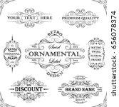 retro set ornamental label... | Shutterstock .eps vector #656078374