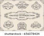 ornamental set of swirl frame...   Shutterstock .eps vector #656078434