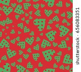 heart pattern  valentines.... | Shutterstock .eps vector #656083351