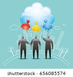 joined up thinking | Shutterstock .eps vector #656085574