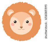 cute lion face isolated on... | Shutterstock .eps vector #656085595