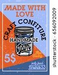color vintage confiture banner. ... | Shutterstock .eps vector #656092009