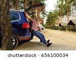 summer car trip  | Shutterstock . vector #656100034