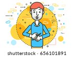 vector illustration speaker... | Shutterstock .eps vector #656101891