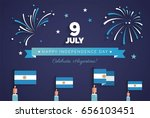 9 july  argentina independence... | Shutterstock .eps vector #656103451