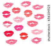 collection print of lips ... | Shutterstock . vector #656104525