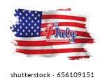 4th of july text design on... | Shutterstock .eps vector #656109151