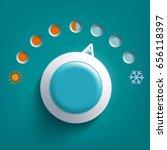 round climate control regulator.... | Shutterstock .eps vector #656118397