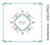 vector ornamental  decorative... | Shutterstock .eps vector #656119021