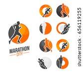running man silhouette ... | Shutterstock .eps vector #656119255