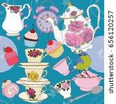 tea time party vector... | Shutterstock .eps vector #656120257
