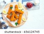 fried fish sticks. fish fingers.... | Shutterstock . vector #656124745