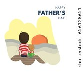 vector illustration of dad and... | Shutterstock .eps vector #656128651