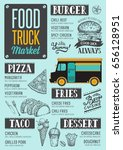 street food festival menu.... | Shutterstock .eps vector #656128951
