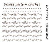 Set Of Ornament Brush Patterns...