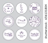vector set of round stickers ... | Shutterstock .eps vector #656131804