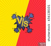 vs. a simple vector logo on the ... | Shutterstock .eps vector #656138101