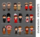 people in national dress.... | Shutterstock .eps vector #656142271