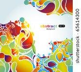 abstract background vector | Shutterstock .eps vector #65614300