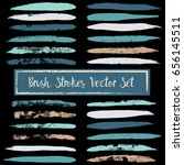 vector set of blue and brown... | Shutterstock .eps vector #656145511