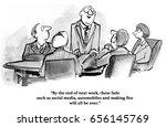 business cartoon about a... | Shutterstock . vector #656145769