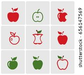 set of apples icons | Shutterstock .eps vector #656147569