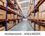 warehouse storage of retail... | Shutterstock . vector #656148205