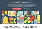 business and finance flat icons ... | Shutterstock . vector #656148541