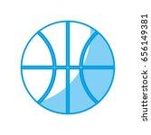 basketball ball icon | Shutterstock .eps vector #656149381