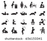 baby black pictogram. pregnant... | Shutterstock . vector #656153341
