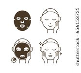 steps how to use facial sheet... | Shutterstock .eps vector #656153725