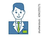hotel receptionist icon | Shutterstock .eps vector #656155171