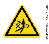 crush hazard sign. symbol ... | Shutterstock .eps vector #656156689
